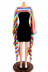 Rainbow Stripe Kimono Bolero - Coquetry Clothing
