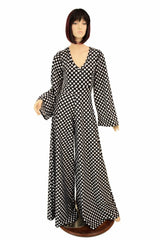 Polka Dot Wide Leg Jumpsuit - Coquetry Clothing