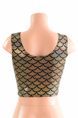 Holographic Mermaid Tank Crop - Coquetry Clothing