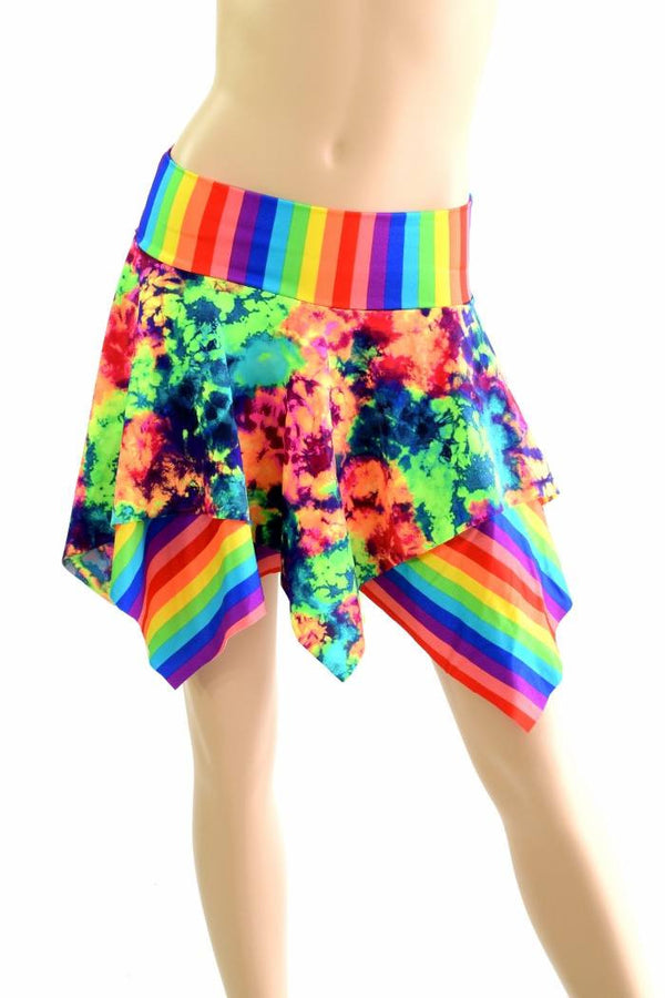 Double layers double colors pixie skirts