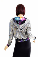 """Kimberly"" Jacket in Silver Holo - Coquetry Clothing"