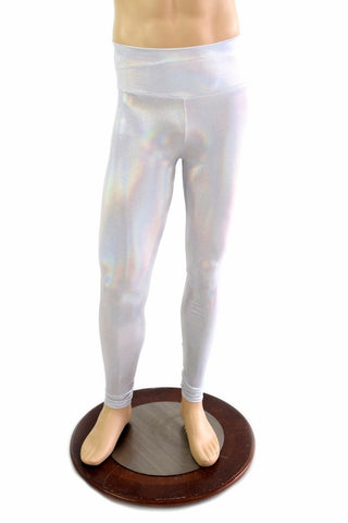 Mens Leggings in Flashbulb Holographic - Coquetry Clothing