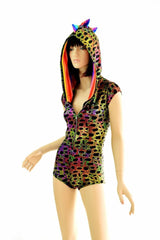 Poisonous Print Hoodie Romper - Coquetry Clothing