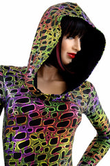 Poisonous Hooded Catsuit - Coquetry Clothing