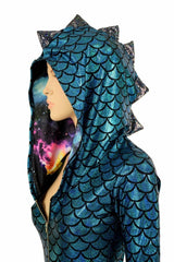 Turquoise Dragon Long Sleeve Catsuit - Coquetry Clothing