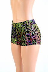 Poisonous Print Mid Rise Shorts - Coquetry Clothing