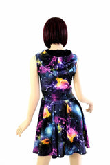 Galaxy Pocket Hoodie Skater Dress - Coquetry Clothing