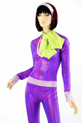 Purple 70's Super Sleuth Catsuit - Coquetry Clothing