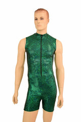 """Mens Green Sparkly """"Stanley"""" Romper - Coquetry Clothing"""