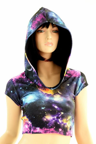 Galaxy Crop Hoodie - Coquetry Clothing