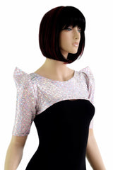 Pink & Silver Dragon Bolero Dance Sleeves - Coquetry Clothing
