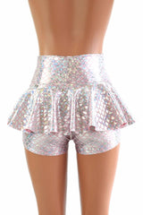 Pink & Silver Scale Ruffle Rump Shorts - Coquetry Clothing