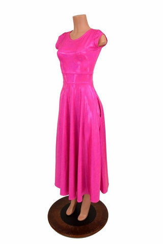 "Maxi Length ""Melissa"" Gown in Pink - Coquetry Clothing"