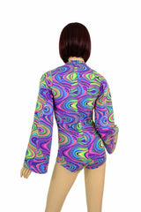 Glow Worm Plunging V Romper - Coquetry Clothing