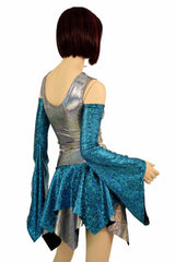 Pixie Day-Tripper Set in Turquoise and Silver - Coquetry Clothing