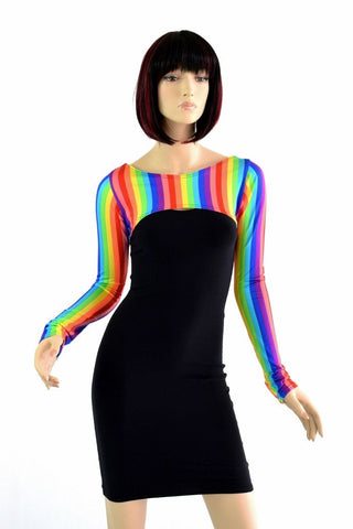 Rainbow Bolero Dance Sleeves - Coquetry Clothing