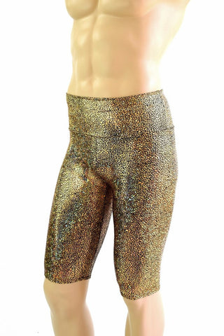 "Mens ""Sahara"" Shorts in Gold Shattered Glass - Coquetry Clothing"