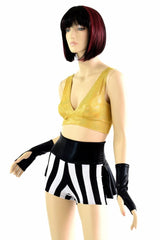 Black & White Stripe and Gold Pirate Set - Coquetry Clothing