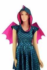 Dragon Skater Dress Set (+Dragon Wings!) - Coquetry Clothing