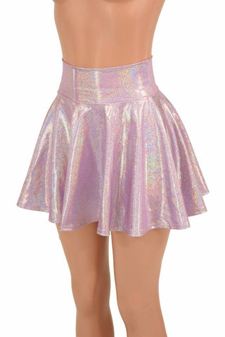 81bdc5a9e Lilac Holographic Mini Rave Skirt - Coquetry Clothing