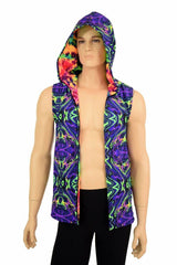 Mens Open Front Hooded Vest - Coquetry Clothing