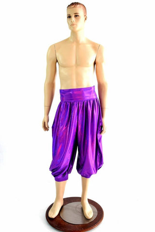"""Michael"" Pants in Grape Holo - Coquetry Clothing"