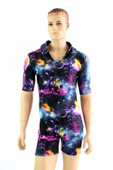 Mens Tee Length Sleeve Galaxy Romper - Coquetry Clothing