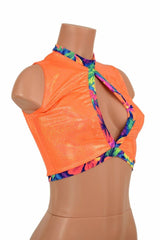 Sleeveless Keyhole Top in Orange - Coquetry Clothing