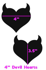 Glow Worm Devil Heart Pasties - Coquetry Clothing