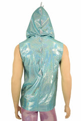 Mens Seafoam & Lilac Dragon Hoodie - Coquetry Clothing