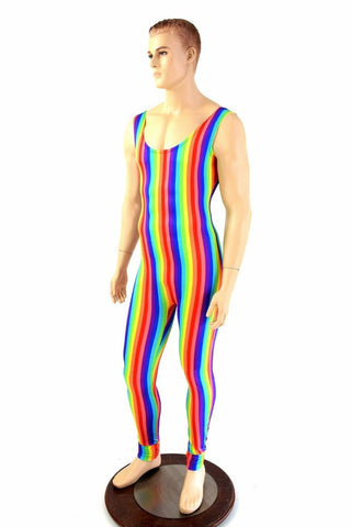 Mens Rainbow Singlet Catsuit - Coquetry Clothing