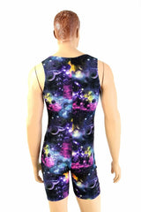 Mens Galaxy Singlet Romper - Coquetry Clothing