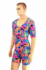 Mens Tahitian Floral Romper - Coquetry Clothing