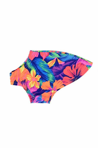 Tahitian Floral UV Glow Pet Shirt - Coquetry Clothing