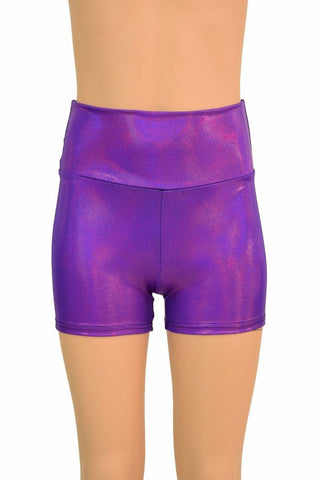 Kids Grape Holo Shorts - Coquetry Clothing