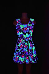 UV Glow Sonic Bloom Fabric - Coquetry Clothing