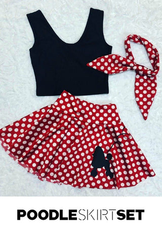 3PC Poodle Skirt Set - Coquetry Clothing
