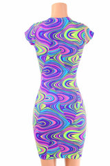 Neon Glow Worm Bodycon Dress - Coquetry Clothing