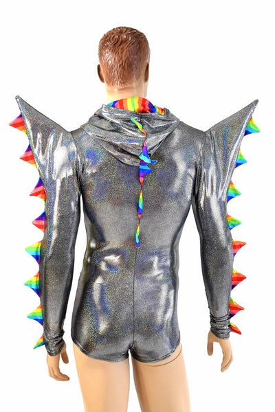 c3f8204ccd3 Mens Silver Holographic Spiked Romper – Coquetry Clothing