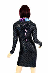Black Dragon Spiked Dress - Coquetry Clothing