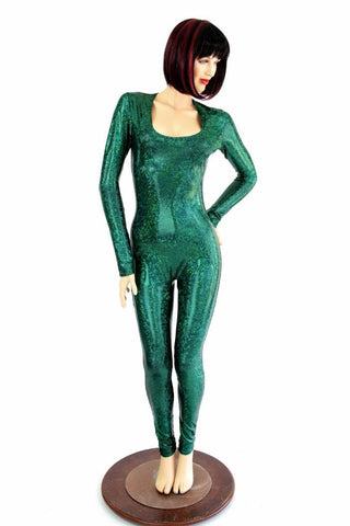 Green Shattered Glass Catsuit - Coquetry Clothing