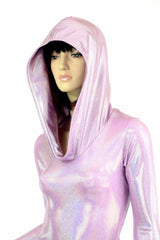 Lilac Long Sleeve Hoodie Romper - Coquetry Clothing