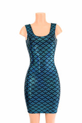 Turquoise Mermaid Tank Dress - Coquetry Clothing