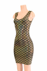 Gold Mermaid Bodycon Tank Dress - Coquetry Clothing