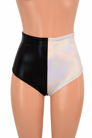 "Two Tone High Waist ""Siren"" Hot Pants - Coquetry Clothing"