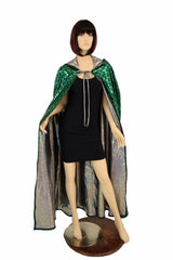 Green Dragon Hooded Cape - Coquetry Clothing