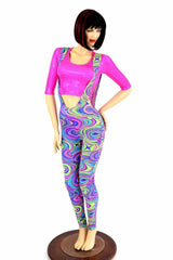 Suspender Leggings in Glow Worm - Coquetry Clothing