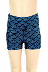 Kids Turquoise Mermaid Shorts - Coquetry Clothing