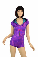 Grape & Turquoise Dragon Romper - Coquetry Clothing