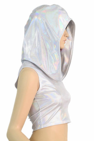 Flashbulb Sleeveless Crop Hoodie Coquetry Clothing